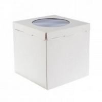 Короб картонный белый с окном (420х420х450)