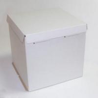 Короб картонный белый для торта (420х420х450)