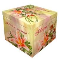 Коробка для заказных тортов (микрогофра)