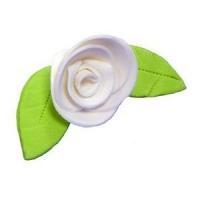 Сахарное украшение «Роза белая»