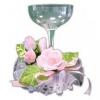 11014 Бокал с розовой розой