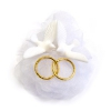 11038 Свадебная декорация «Голуби с кольцами золото»