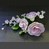 11940 B Цветы из мастики «Розы розовые»