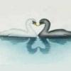 40-WM008 Трафарет для аэрографа «Лебеди»