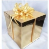 Короб картонный золотой для торта (250х250х300) до 5кг