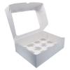 Короб картонный под 12 капкейков с окном (330х250х100)