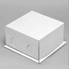 Короб торт белый без окна хром-эрзац (170х170х100)