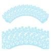 Кружево бумажное для кексов голубое