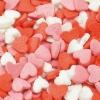 Посыпка «Сердечки красно-бело-розовые»