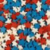 Посыпка «Звезды красные, белые, синие»