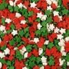 Посыпка «Звезды красные, белые, зеленые» (мини)