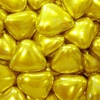 Шоколадные сердечки (золотые и серебряные)