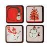T108 Форма-лист для декора Блистершок «Снеговики»