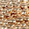 Украшение шоколадное «Конфетти» золотое