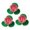 Вафельные розочки розовые