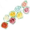 Вафельные розы на трилистнике микс